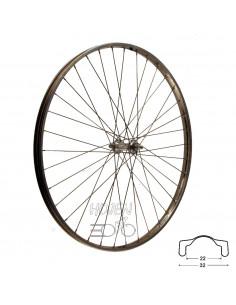 Hjul fram 622-22 rostfri fa, RD/Joytech 36h fast axel 296mm eker