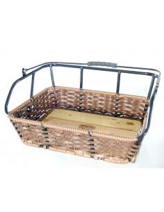 Cykelkorg f. pakethållare, Brun, Aluminium/rotting