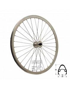 Framhjul Single Speed dubbelbottnad Mutter, 32 ekrar silver 622 mm