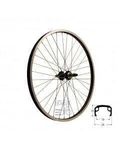 Hjul bak 507mm gäng sv/silver, RD/för 6/7 delad frikrans passar bla Crescent 24