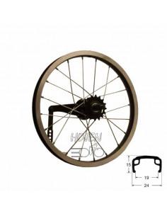 Hjul bak 305mm sv/si, RD/passar bla Crescent 16 from 08 lekcykel