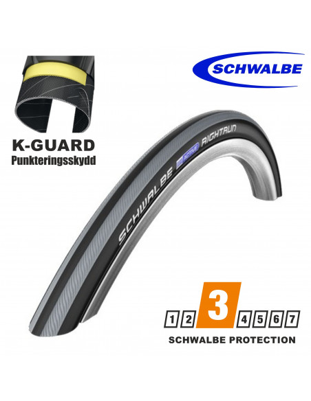 RULLSTOLSDÄCK SCHWALBE RIGHTRUN, 25-540mm, GREY STRIPES