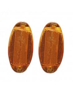 Reflex eker oval orange (2st), Spectra hella snäppfäste