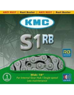 Kedja KMC Antirost, S1RB, pinnlängd 8,6 mm silver 1/2x1/8 112 L
