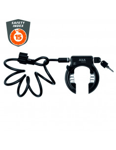 Ringlås solid+ m 150cm wirelås, Axa ssf godkänt ringlås komplett med 150 cm låsw
