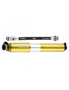 Minipump Lezyne Pressure Drive 120psi, racer/bilventil guld 170 mm