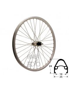 Hjul bak 559-19 db/silv 7d fa, RD/Shimano® rm40 36h 255/254mm eker