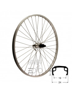Hjul bak 622-21 std/si 8/9d qr, RD/Shimano® RM40 snabbkoppling 290/292mm eker