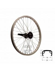 Hjul bak 406mm sv/sil 0-vxl, RD/passar bla Crescent 20 from 08 lekcykel svart na