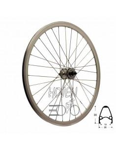 Bakhjul Single Speed dubbelbottnad Flip/flop mutter 17T, 32 ekrar silver 622 mm