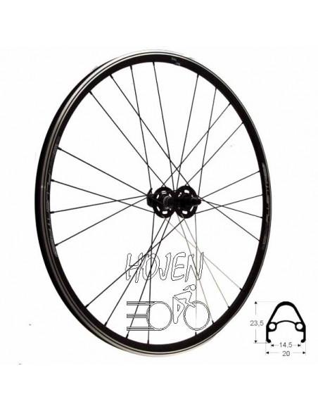 Hjul fram 622-15 fluenta race, TEC 24h vikt: 945 g svart