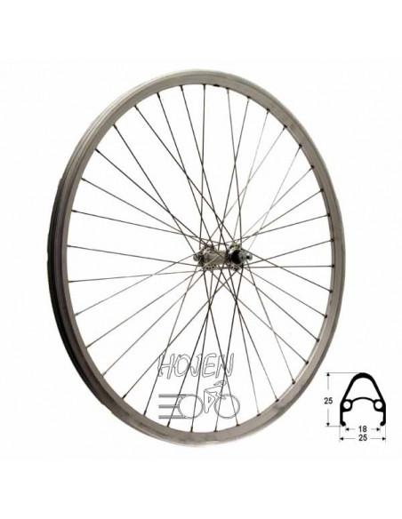 Hjul fram 622-19 db/silver fa, RD/Joytech 36h fast axel 285mm eker