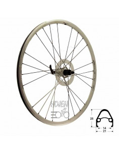 Hjul bak 622-15 fluenta race, TEC 24h 8-10 del Shim./SRAM kompatibel vikt: 1175