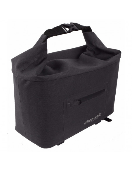 TRAVEL Top Bag, grey / black, WP. AVS , SVART, one size
