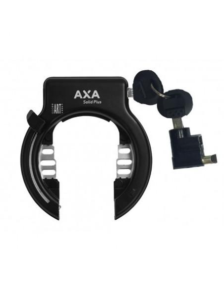 AXA Låsset Solid Plus Ringlås + Låskolv för EGOING Batteri