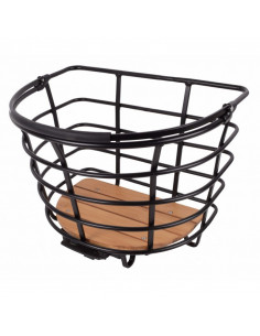 EPIC basket model CURVE, bamboo plate, matt black with AVS , SVART, one size