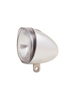 SPANNINGA Front light Swingo XB Chrome3 x AAA, 4 lux, w. reflector, Battery,