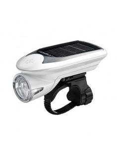 Framlampa Cateye HLEL020 Hybrid med solcell/inkl batteri vit